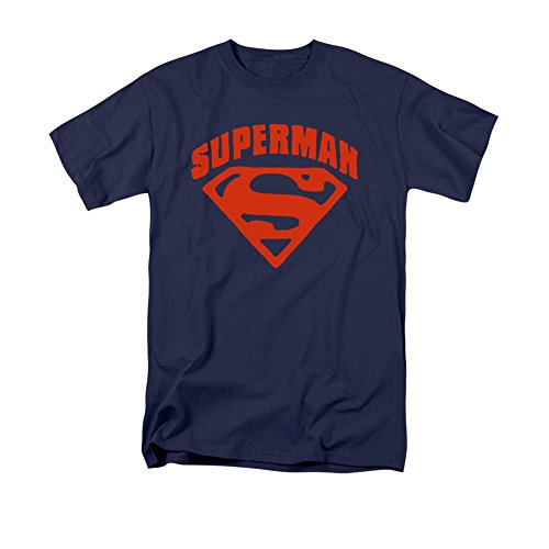 DC Comics Men's Big-Tall Superman Shield T-Shirt, Navy, 3X-Large