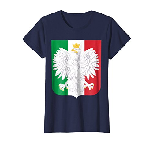 n T-Shirt Family Heritage Poland Italy Shirt Medium Navy (Polish Italian)