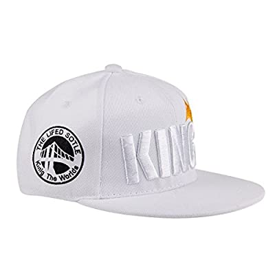Ma&Baby Infant & Toddler Hip Hop Snapback Flat Brim Hats Lettre King Cap
