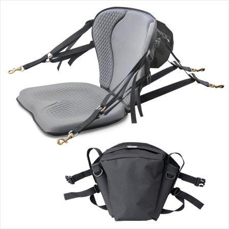 GTS Pro Molded Foam Kayak Seat With Fishing Pack, Sit On Top Kayak Seat, Back Support Kayak Seat, Kayak Cushion by Surf To Summit