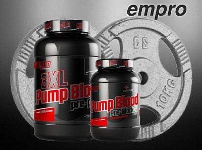 Pre y Post Entreno Pump Blood (500g) con cafeina, tribulus (90 ...