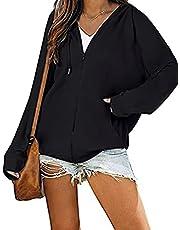 sumtaplor Women Casual Long Sleeve Zip Up Hooded Sweatshirt Waffle Hoodies with Pocket