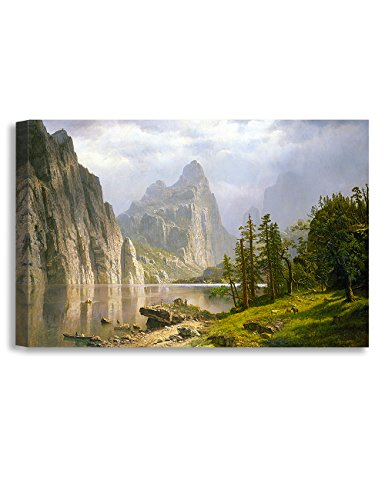 DECORARTS Merced River Yosemite Valley Albert Bierstadt Classic Art Reproductions Giclee Prints Wall Art Home Decor 36x24x15