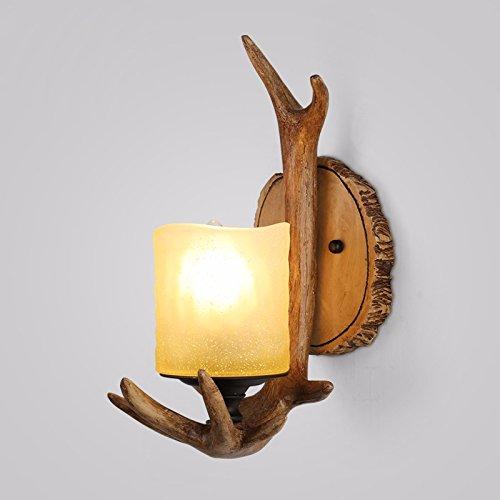 Anbiratlesn Modern Wandleuchten E27 Antik Wandlampe Vintage Rustikal Wandlampe für Schlafzimmer Wohnzimmer Bar Flur Badezimmer Küche Balkon Innen Lampe Geweih Single Head Wandleuchte