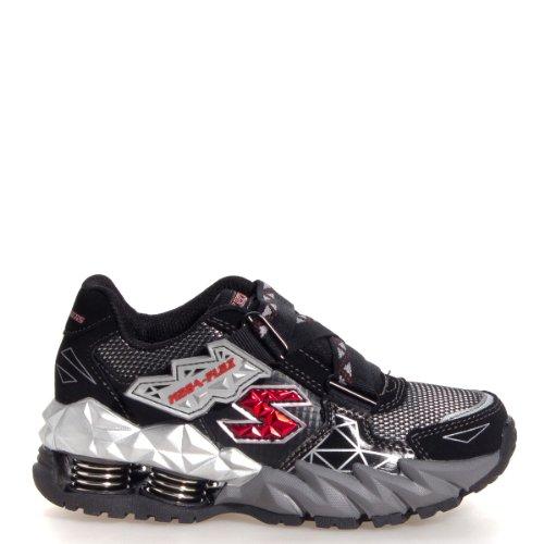 Skechers Boys' Mega Flex Cerium,Black/Silver,US 11 M