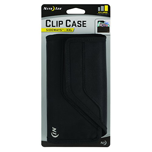 Nite Ize Clip Case Sideways Phone Holster - Protective, Clippable Phone Holster For Your Belt Or Waistband - XX Large - Black