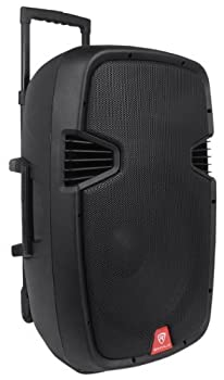"Rockville Ram15bt 15"" Rechargable Powered 800w Pa Speaker, 2 Mics, Bluetooth 2"