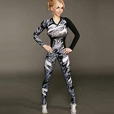 CYJJJK Pantalones de Yoga Mujer Chándal Traje de Fitness ...