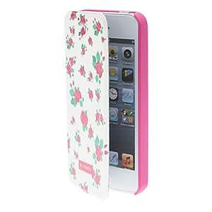 compra Calidad de Diseño Red generoso patrón caja elegante del cuerpo completo Rose con mate para el iPhone 5/5S