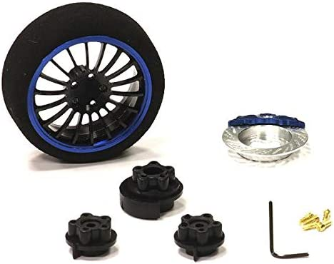 Integy RC Model Hop-ups C23824BLUEBLACK Evolution IX Steering Wh