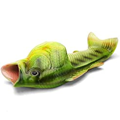 Unisex Fish Slippers, bass Sandals, Anim...