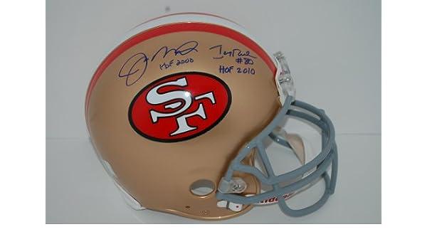 1f5c33faf Amazon.com   Joe Montana and Jerry Rice Signed Helmet with