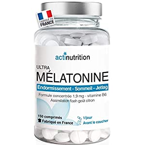 Mélatonine 1,9mg – 150 nuits : Action Rapide – Régulateur de l'horloge biologique | Pulsions de grignotage | Fabriqué en…
