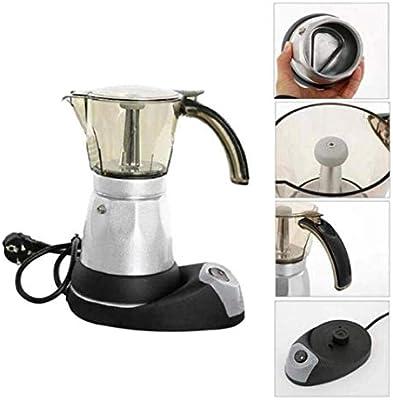 LCLZ Práctico Cafetera Eléctrica Espresso De Acero Inoxidable Cafetera Mocha Cafetera Espresso 6 Personas Mini Cafetera Doméstica: Amazon.es: Hogar