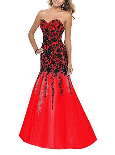 Damen Linie Rot Fanciest A Kleid YqxZ4d