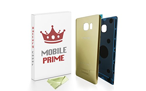 MOBILEPRIME Replacement Back Glass Back Cover for Samsung Galaxy Note 5 (Gold)