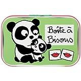 Boîte bisous Panda verte - Derrière la Porte