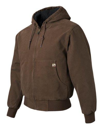 Cheyenne Hooded Work Jacket, Tobacco, Large (Trader Jacks)