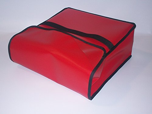 TCB Insulated Bags PK-330-Red Insulated Pizza Delivery Bag, Holds 3 Each 28'' Pizzas, 30'' x 30'' x 7'', Red by TCB Insulated Bags