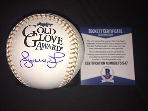 Andruw Jones Autographed Signed Official Gold Glove Baseball Atlanta Braves Star Beckett - Authentic Memorabilia