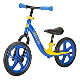 GOMO Balance Bike - Toddler Training Bike for 18 Months, 2, 3, 4 and 5 Year Old Kids - Ultra Cool Colors Push Bikes for Toddlers/No Pedal Scooter Bicycle with Footrest (Blue) -  Nextsport