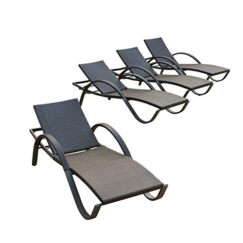 Commercial Lounge - RST Brands Deco Chaise Lounge 4-Pack Patio Furniture