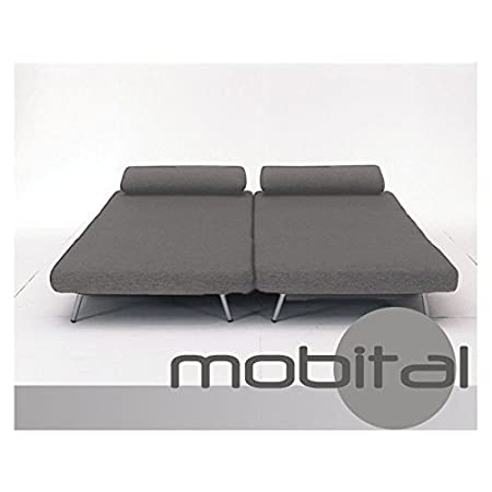 Amazon.com: Mobital Iso Double Sofa Bed With 2 Single Swivel Chairs In  Charcoal Tweed: Kitchen U0026 Dining