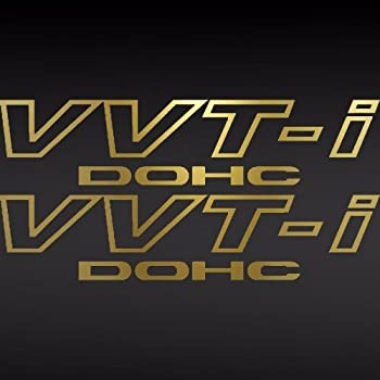 [#136] FLA (2) Toyota Tech TRD VVT-I DOHC Vinyl Decal Car Window Sticker Supra GOLD