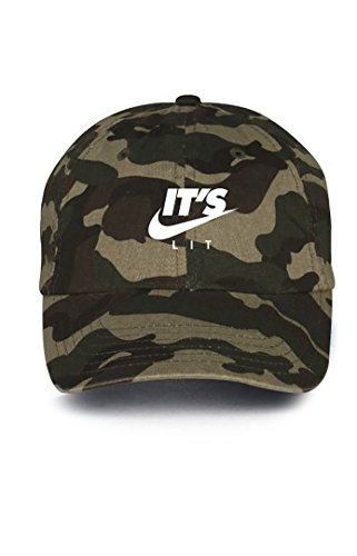 It's Lit Swoosh Camo w/ White Unstructured Dad Hat