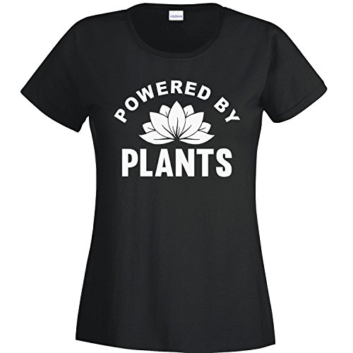 Powered By Plants, Vegan Ladies T-Shirt