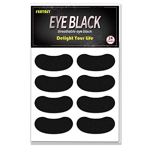 Eye Black Stickers (Fentasy Eye Black Stickers for Kids - Breathable Eye Black Made by Cotton Material Customizable Lettering 24)