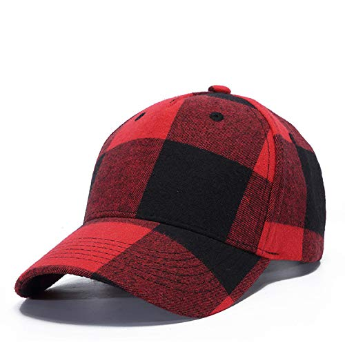 sdssup Algodón Negro Rojo a Cuadros Gorra Sombrero de Hombre ...