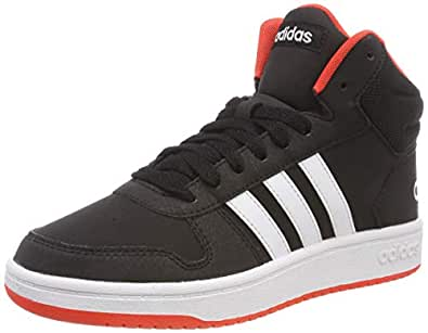 adidas Australia Boys Hoops Mid 2.0 Trainers, Core Black/Footwear White/Hi-Res Red, 1 US