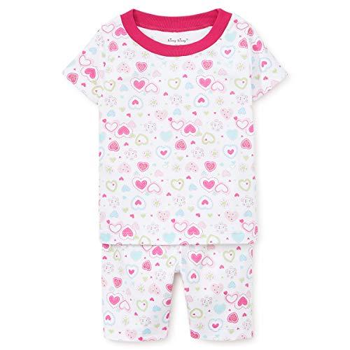 Kissy Kissy Baby Girls Pajamas - Happy Hearts Short PJ Set-18-24mos