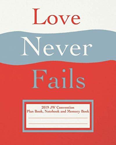 Love Never Fails 2019 JW Convention Plan Book, Notebook and Memory