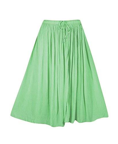 Plus Size Light Lime Crinkle Gauze Skirt --Size: one size Color: (Crinkle Gauze Skirt)