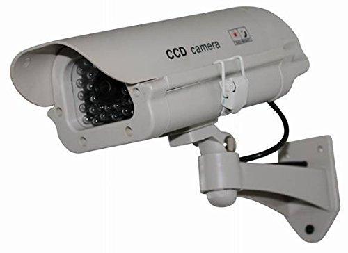 Henxlco Dummy Solar Security Camera Fake Flashing Light Infrared LED CCTV Surveillance