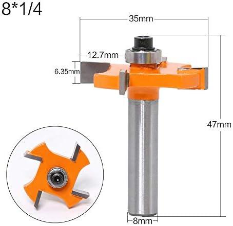 NO LOGO 1pcs 8mm Schaft T Typ Lagerfuge Slot Holzbearbeitung CNC-Groove Biscuit Stoßen Fräser Werkzeug-Spitzen-Fräser for Holz (Größe : T01301)