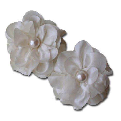 (Maya Road TK2431 Satin Scallop Edge Bloom Flowers, Cream)