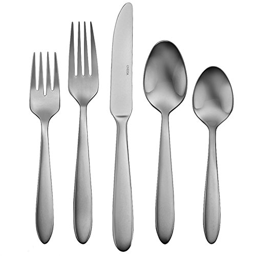 Fine Stainless Flatware Place (Oneida Satin Mooncrest 45-Piece Flatware Set, Service for 8)