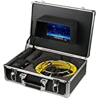 LHBC 50m Sewer Waterproof Camera Pipe Pipeline Drain Inspection System 7lcd DVR