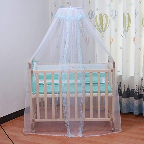 YASSUN 2 Infant Child Crib Baby Bed Mosquito net Mosquito net Mosquito net Mosquito net Court Crib Bedding Set (Blue)