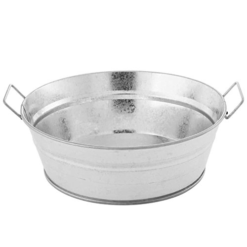 American Metalcraft MTUB83 Round Galvanized Metal Tub, Silver 37-Ounces ()