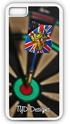 iPhone 6s Case Darts Dart Board Bulls Eye Tournament Customizable by TYD Designs in White Plastic