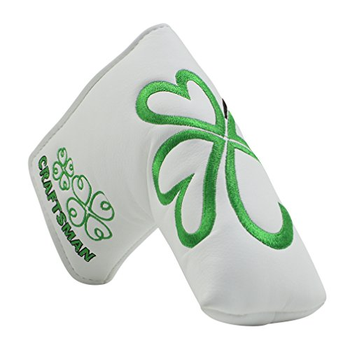 (Craftsman Golf Green Lucky Clover Headcover Putter Cover For Scotty Cameron Taylormade Odyssey Blade)
