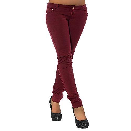 para Mujer Diva Jeans Vaqueros Básico Burdeos Skinny Owx4Iq4XB