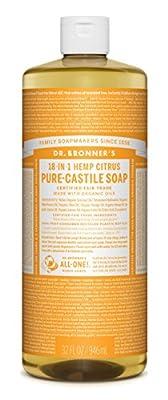 Dr. Bronner's Organic Pure Castile Liquid Soap, Citrus Oil, 32 oz