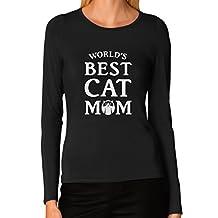 TeeStars - World's Best Cat Mom - Gift For Cat Lover Women Long Sleeve T-Shirt