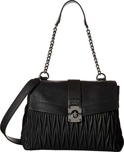 GUESS Women's Keegan Shoulder Bag Black Handbag