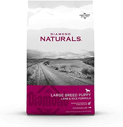 Diamond Naturals Premium Large Breed Formulas Dry Dog Food for Adult Dogs and/or Puppies Made with Real Meat Protein, Superfoods, Probiotics and Antioxidants